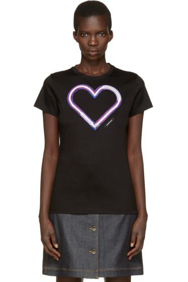 Carven - Black Neon Heart T-Shirt