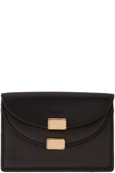 Chloé - Black Leather Card Holder