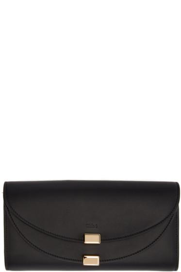 Chloé - Black Long Georgia Flap Wallet