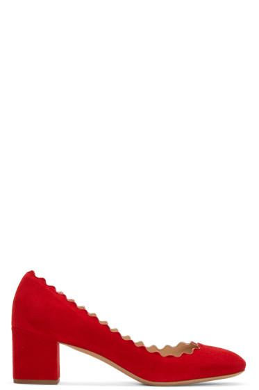 Chloé - Red Suede Lauren Heels