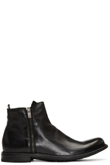 Officine Creative - Black Ideal 22 Zip Boots