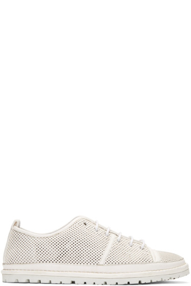 Marsèll - White Perforated Ricicarro Sneakers