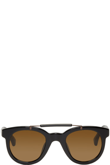 Dries Van Noten - Black Round Sunglasses