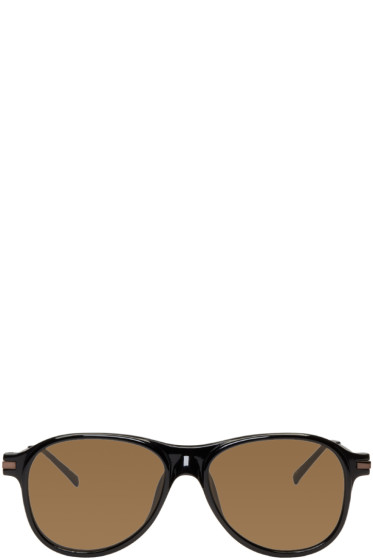 Dries Van Noten - Black Flat Top Sunglasses
