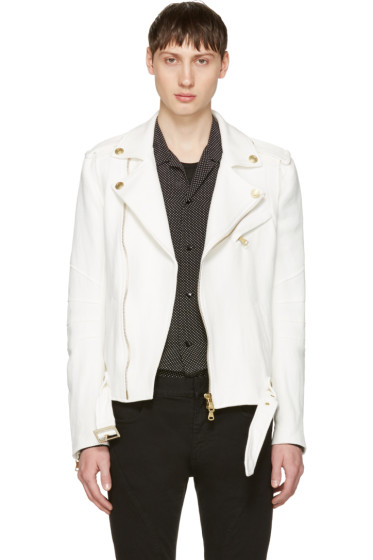 Pierre Balmain - Off-White Canvas Jacket