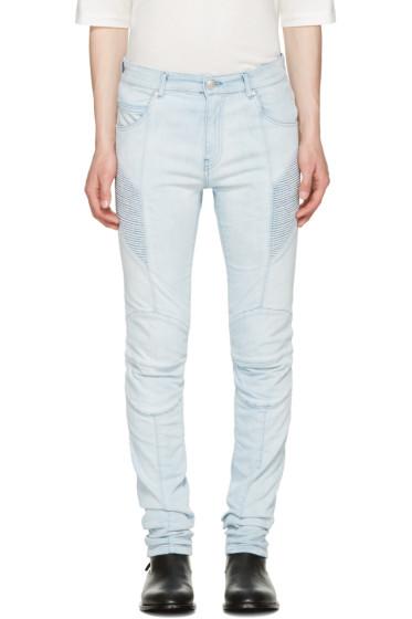 Pierre Balmain - Blue Biker Skinny Jeans