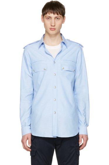 Pierre Balmain - Blue Button-Down Shirt