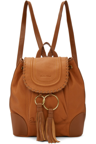 See by Chloé - Tan Polly Backpack