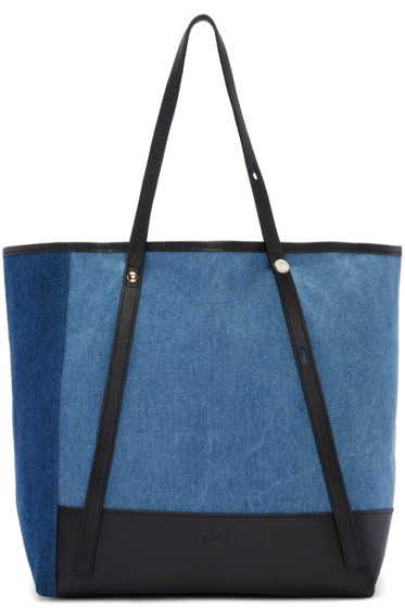 See by Chloé - Blue Denim Patchwork Andy Tote