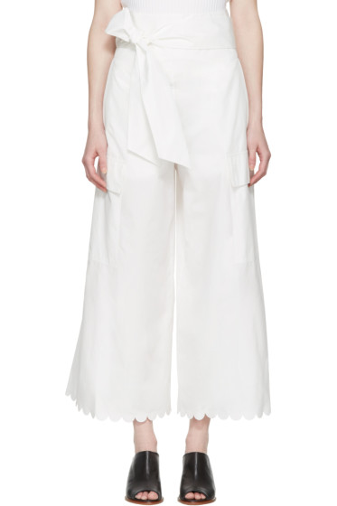 See by Chloé - White Belted Culottes
