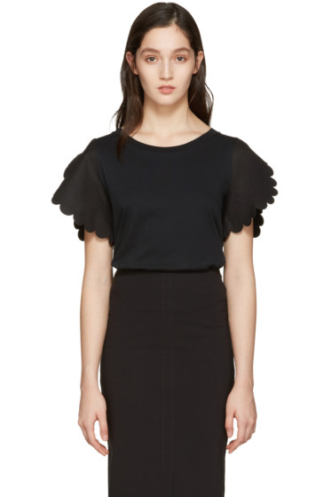 See by Chloé - Black Scallop T-Shirt