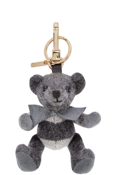 Burberry - Grey Check Thomas Keychain