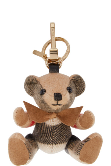 Burberry - Tan Check Thomas Keychain