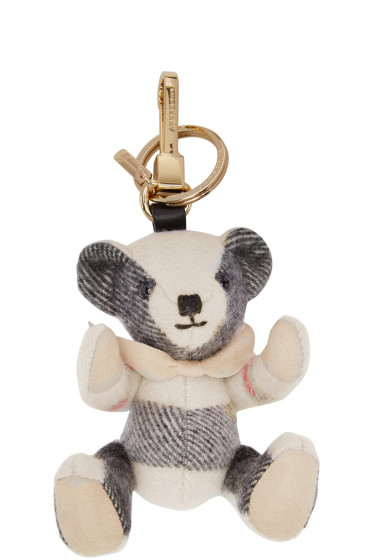 Burberry - Beige Check Thomas Keychain