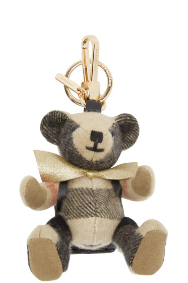 Burberry - Tan Cashmere Thomas Keychain