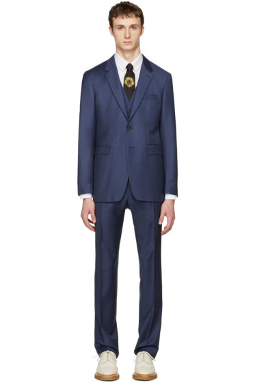 Burberry - Blue Millbank Travel Three-Piece Suit