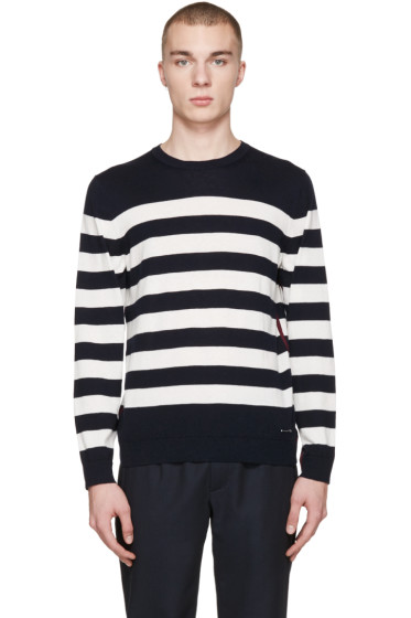 Burberry - Navy Striped Seaborne Sweater