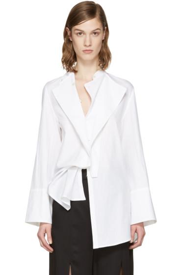 Ann Demeulemeester - White Rigatoni Shirt