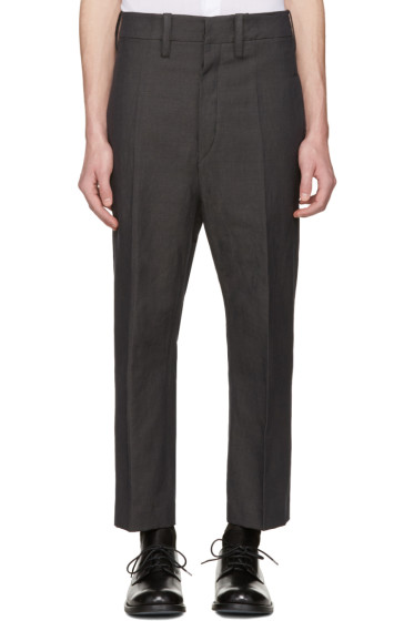 Ann Demeulemeester - Grey Cropped Trousers