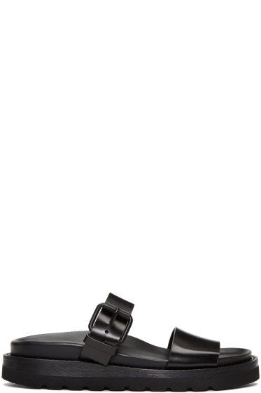 Ann Demeulemeester - Black Two-Strap Sandals