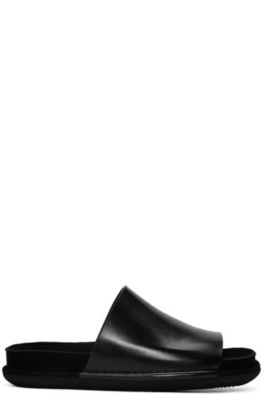 Ann Demeulemeester - Black Slide Sandals