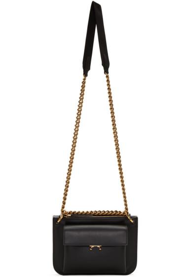 Marni - Black & Grey Bandoleer Bag