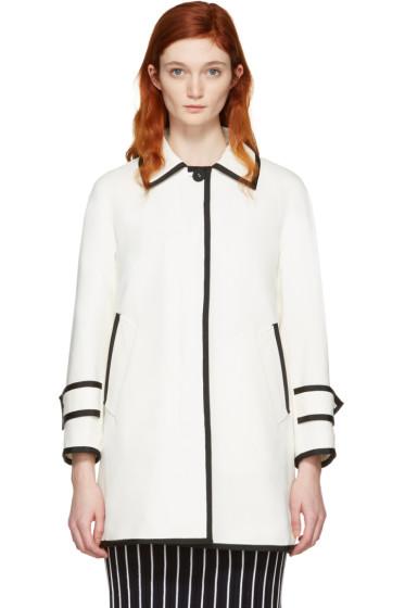 Thom Browne - White Ball Collar Coat