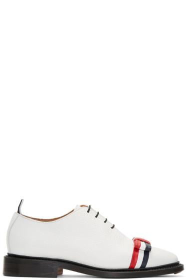 Thom Browne - White Wholecut Bow Oxfords