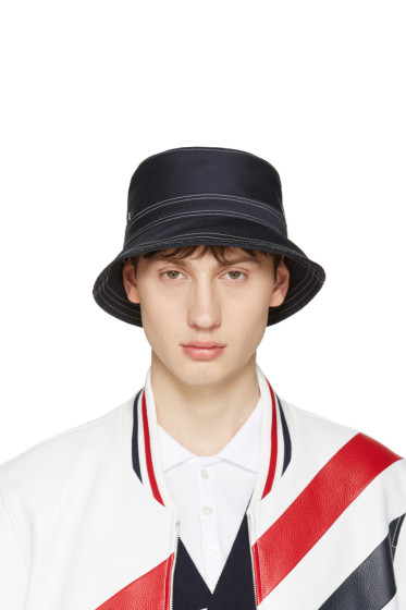 Thom Browne - Navy Bucket Hat