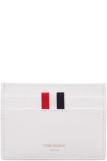 Thom Browne - White Single Card Holder