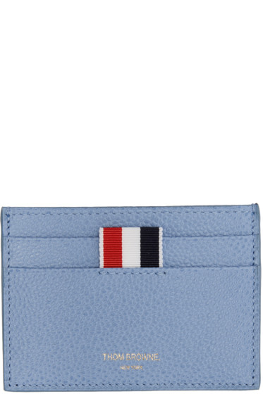 Thom Browne - Blue Single Card Holder