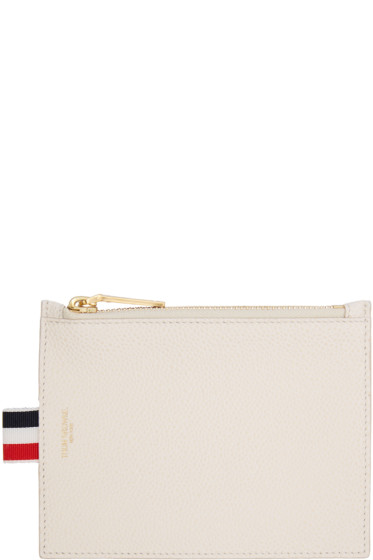 Thom Browne - Off-White Small Coin Purse