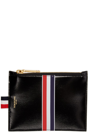 Thom Browne - Black Small Striped Coin Purse