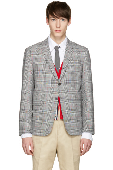 Thom Browne - Tricolor Classic Gingham Blazer