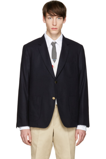 Thom Browne - Navy Sack Whale Icon Blazer