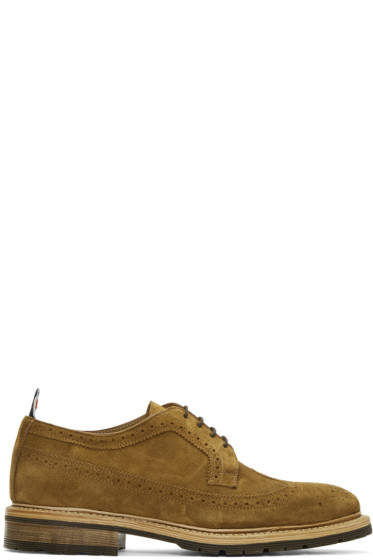 Thom Browne - Brown Suede Classic Longwing Brogues