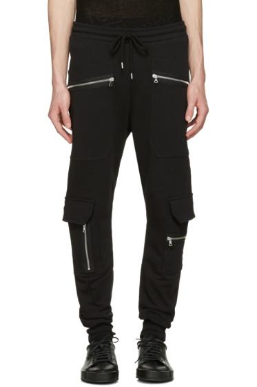 Markus Lupfer - Black Cargo Zip Lounge Pants