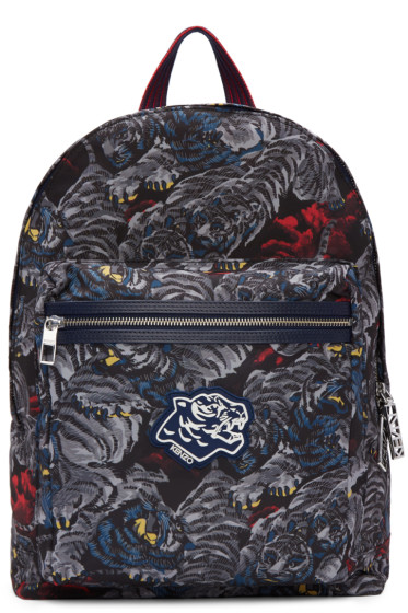 Kenzo - Grey Flying Tiger Backpack