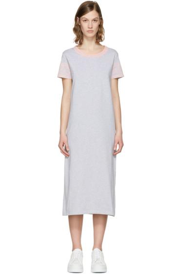 Kenzo - Grey Logo Sleeve Dress