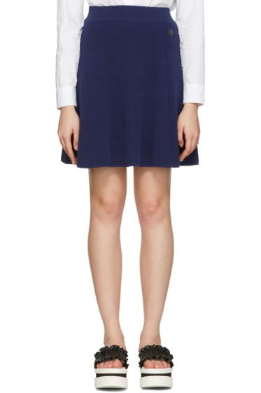 Kenzo - Navy Flared Iconic Miniskirt