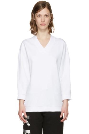 Kenzo - White V-Neck Pullover