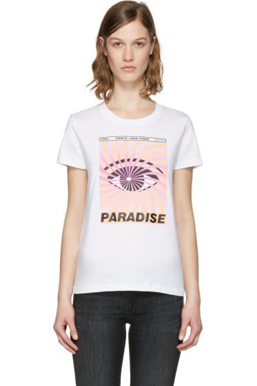 Kenzo - White 'Paradise' Flyer T-Shirt