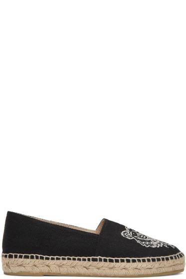 Kenzo - Black Canvas Tiger Espadrilles