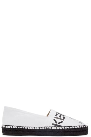 Kenzo - White Canvas Logo Espadrilles