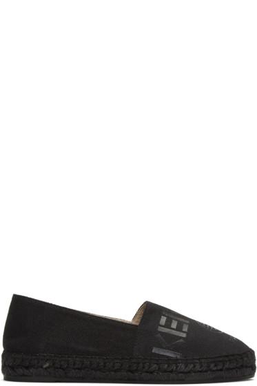 Kenzo - Black Canvas Logo Espadrilles
