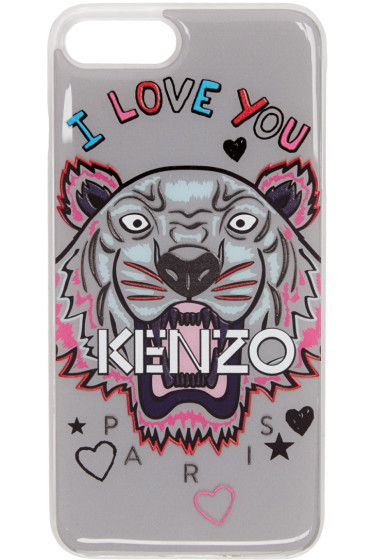 Kenzo - Grey 'I Love You' Tiger iPhone 7 Plus Case