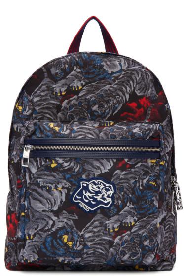 Kenzo - Grey Flying Tigers Backpack