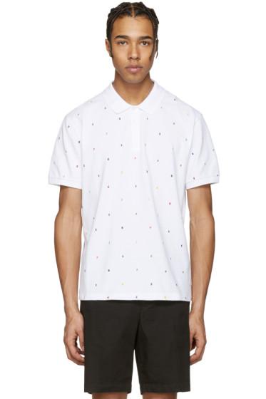 Kenzo - White Embroidered Polo