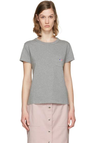 Maison Kitsuné - Grey Fox Patch T-Shirt