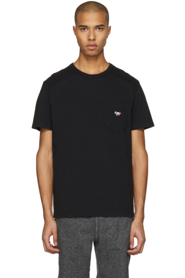 Maison Kitsuné - Black Fox Patch T-Shirt